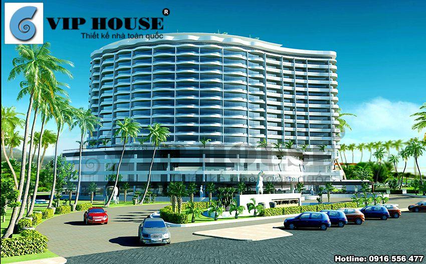 Thiết kế khách sạn 4 sao ven biển Đà Nẵng - phối cảnh chính của khách sạn