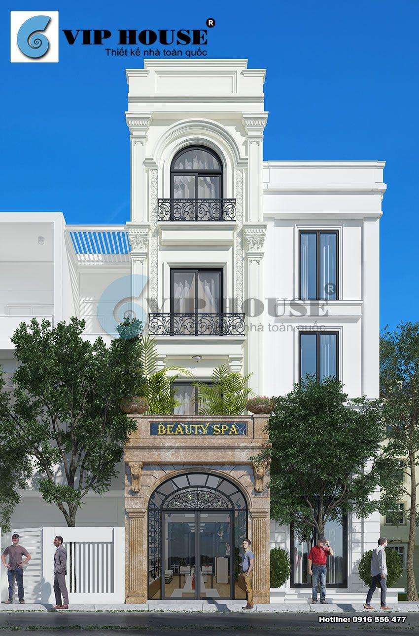 Thiết kế cải tạo nhà phố kiểu Pháp 4 tầng tại Thành Công - Hà Nội