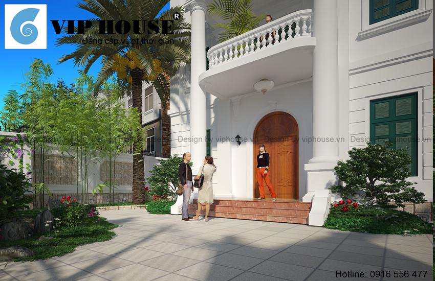 Thiết kế biệt thự kiểu Pháp 3 tầng- Hồ Tây, Hà Nội