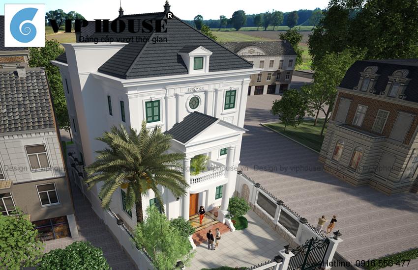Sảnh chính ngôi nhà được thiết kế tại tâm điểm nhà tạo cảm giác bề thế, hoành tráng