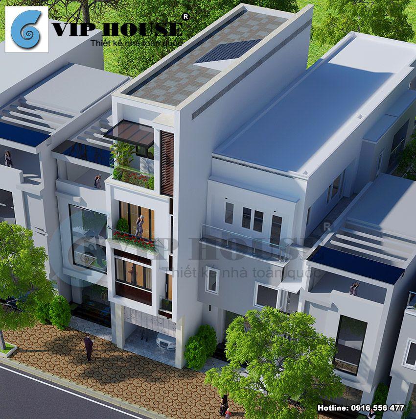 Hình khối nhẹ nhàng, các khe thoáng đảm bảo công năng lấy sáng và gió cho ngôi nhà
