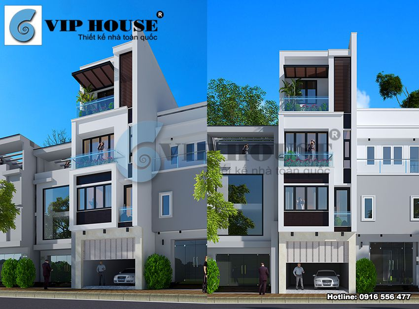 Thiết kế nhà phố hiện đại với vẻ trẻ trung, năng động