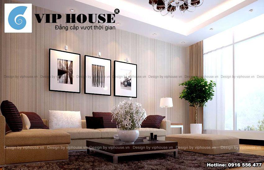 Nội thất phòng khách mang phong cách hiện đại, tinh tế