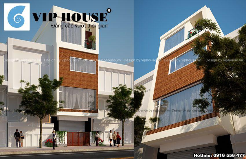 Mặt đứng kiến trúc công trình mang nét hiện đại, cá tính