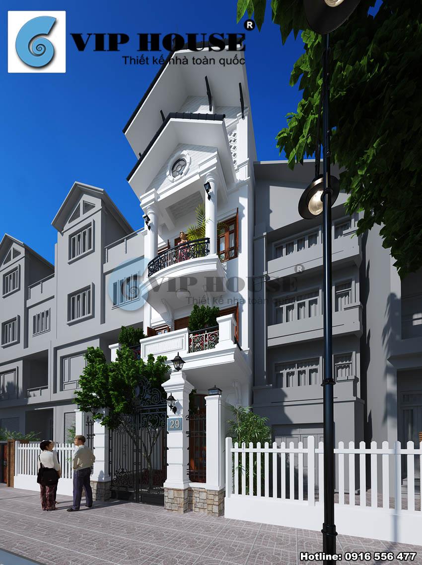 Góc nhìn nghệ thuật tôn nên nét thẩm mỹ của ngôi nhà phố 4 tầng