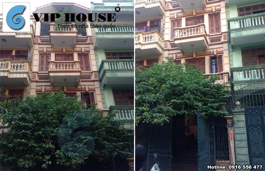 Hình ảnh diện mạo của ngôi nhà trước khi được cải tạo tại Định Công – Hà Nội