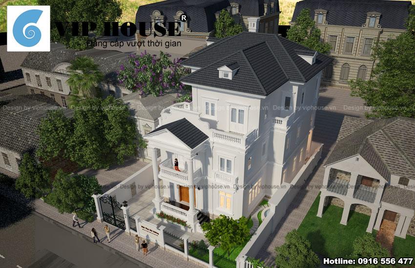 Thiết kế biệt thự 3 tầng kiểu Pháp tại Huế