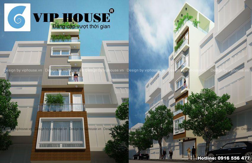 Thiết kế nhà phố 3,7m x10,9m 7 tầng có thang máy