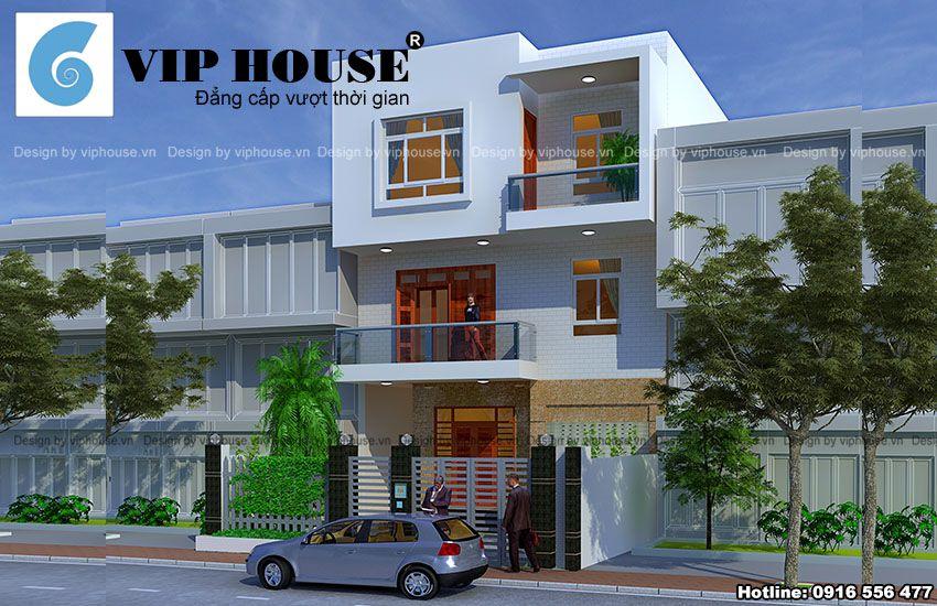 Thiết kế nhà phố 3 tầng tại Bắc Ninh hiện đại với đường nét tối giản, đẹp mắt