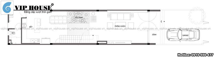 Thiết kế nhà phố 3 tầng hiện đại 4x20m