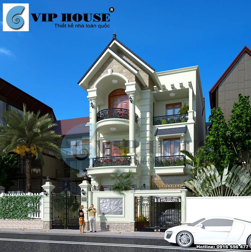 Thiết kế biệt thự phố mini 3 tầng tại Ninh Bình