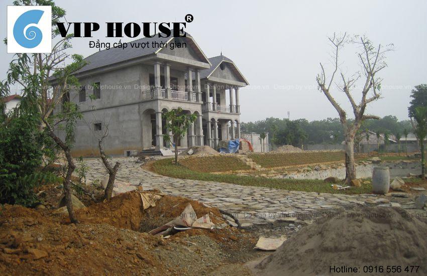 Thiết kế nhà vườn 2 tầng đẹp tại Hòa Bình - VH TKNV 012