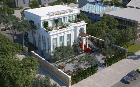 Thiết kế nhà hàng sân vườn tân cổ điển tại Quy Nhơn - VH NH MS05