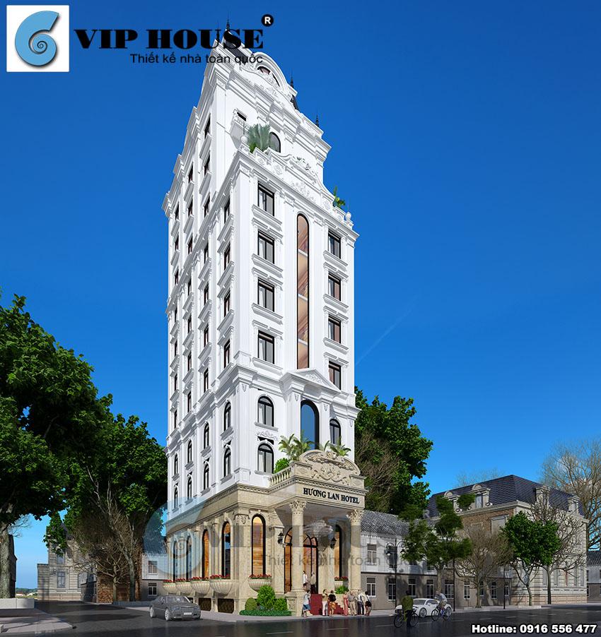 Thiết kế khách sạn tiêu chuẩn 3 sao đẹp tại Ninh Bình