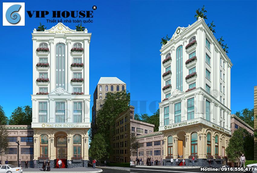 Thiết kế khách sạn tân cổ điển tiêu chuẩn 3 sao tại Quy Nhơn