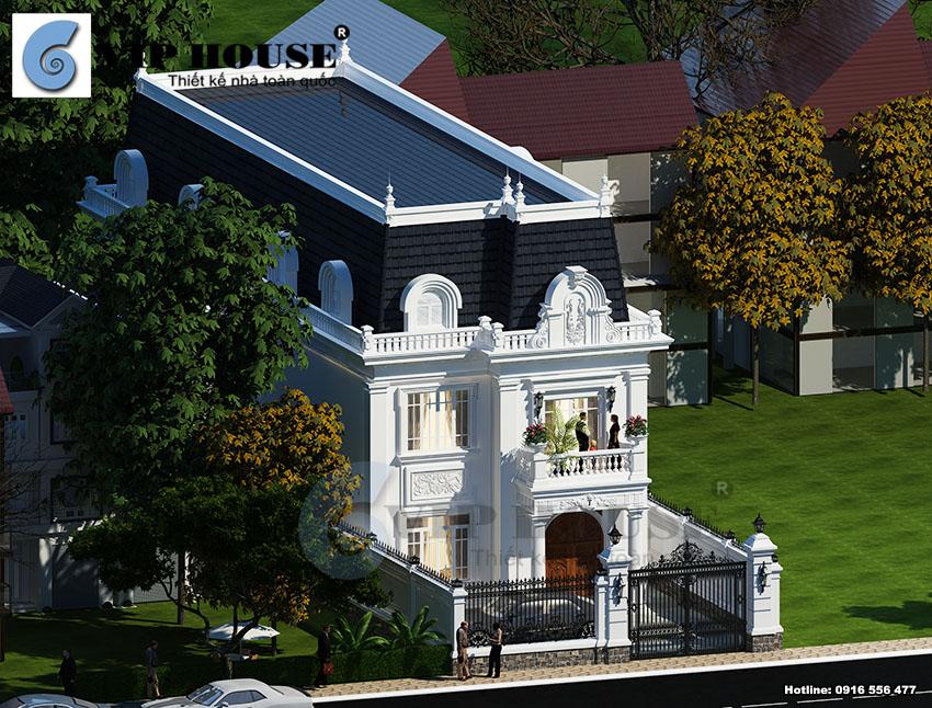 Kiến trúc ấn tượng của mẫu biệt thự kiểu Pháp 3 tầng sang trọng