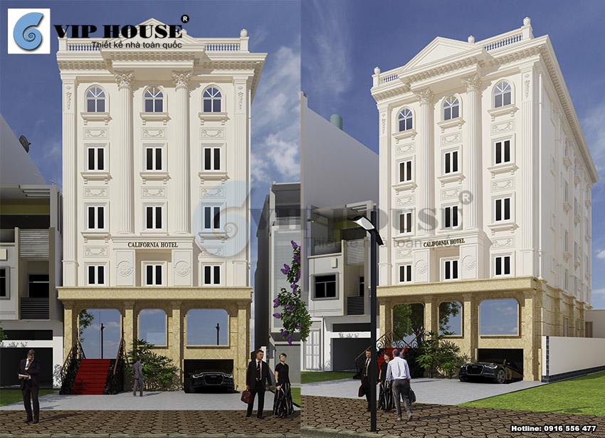 Các góc view đẹp nổi bật của mẫu thiết kế khách sạn 6 tầng tiêu chuẩn 2 sao