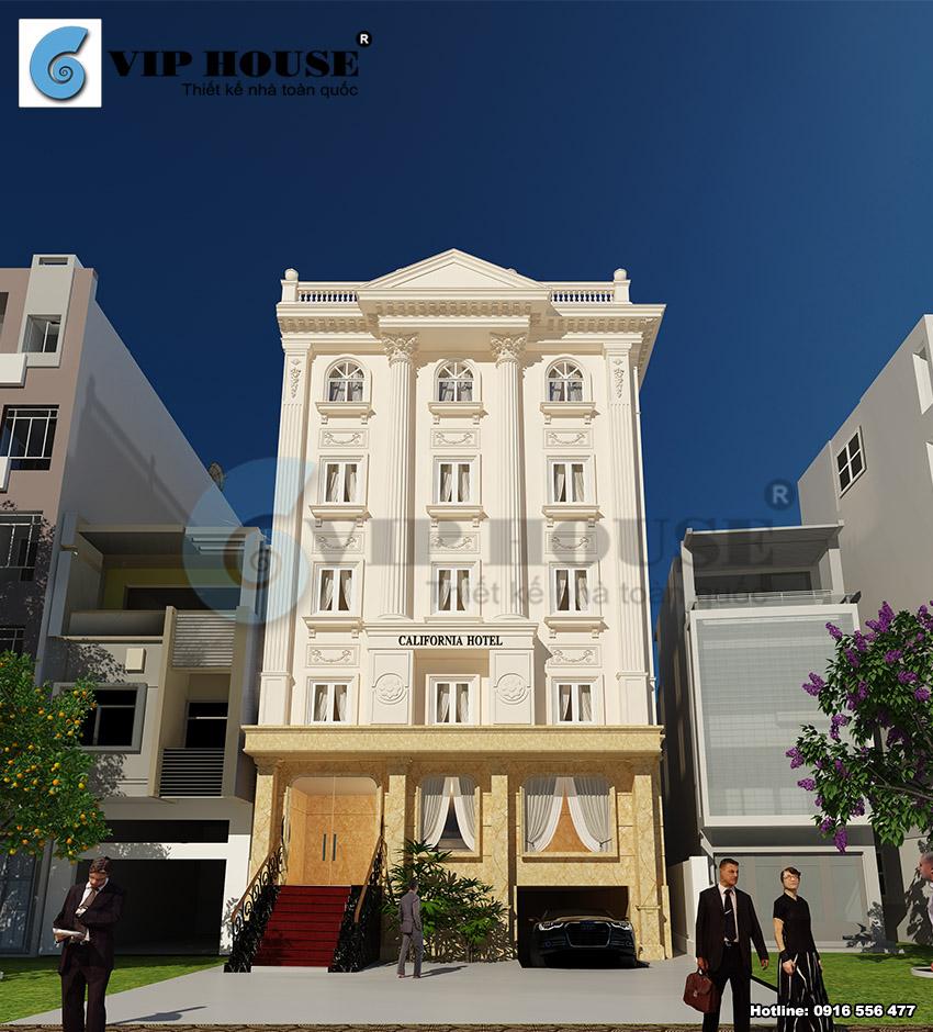 Thiết kế khách sạn tân cổ điển tiêu chuẩn 2 sao – VH KS MS025