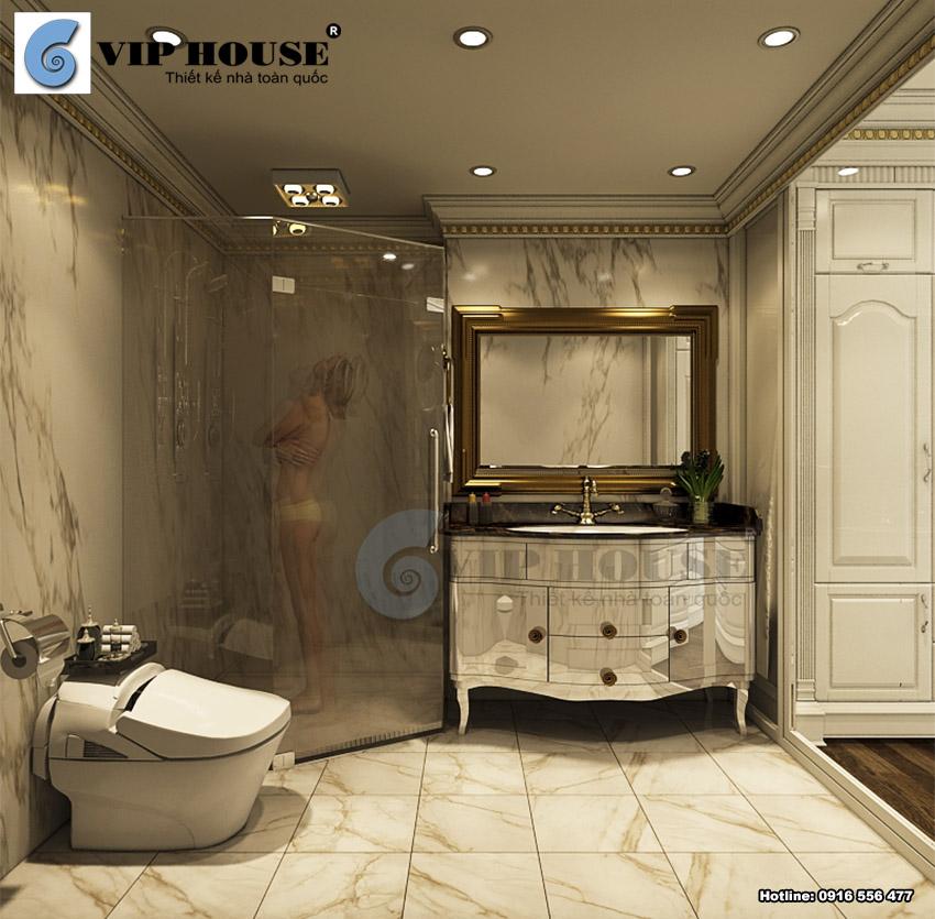 Phòng tắm và wc hiện đại trong phòng ngủ master
