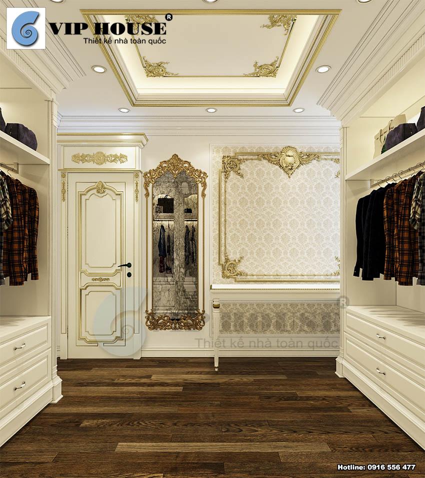 Phòng thay đồ có sức chứa lớn cùng thiết kế sang trọng