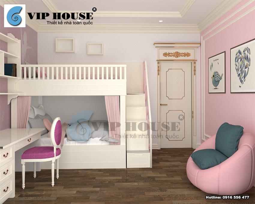 Thiết kế nội thất phòng ngủ con hiện đại, gọn gàng