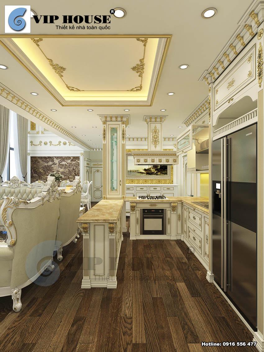 Hình ảnh: Phòng bếp kiểu chữ U với đầy đủ thiết bị hiện đại
