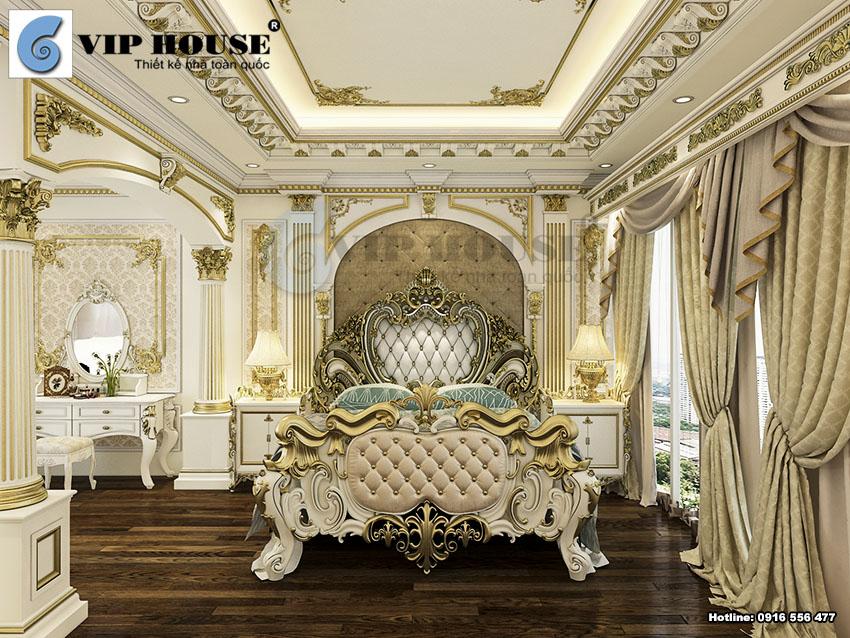 Nội thất phòng ngủ master tiện nghi và cao cấp