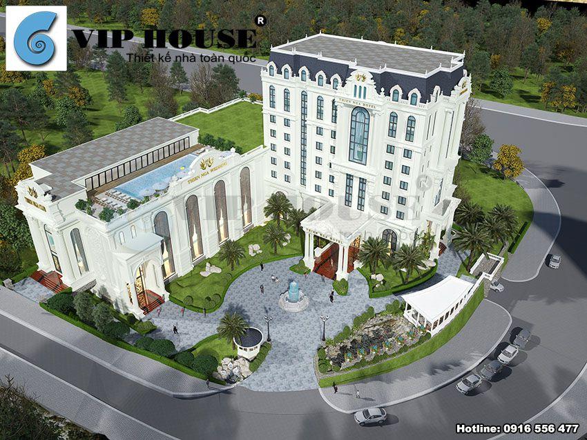 Công trình khách sạn kết hợp nhà hàng tiệc cưới 4 sao tại Lào Cai