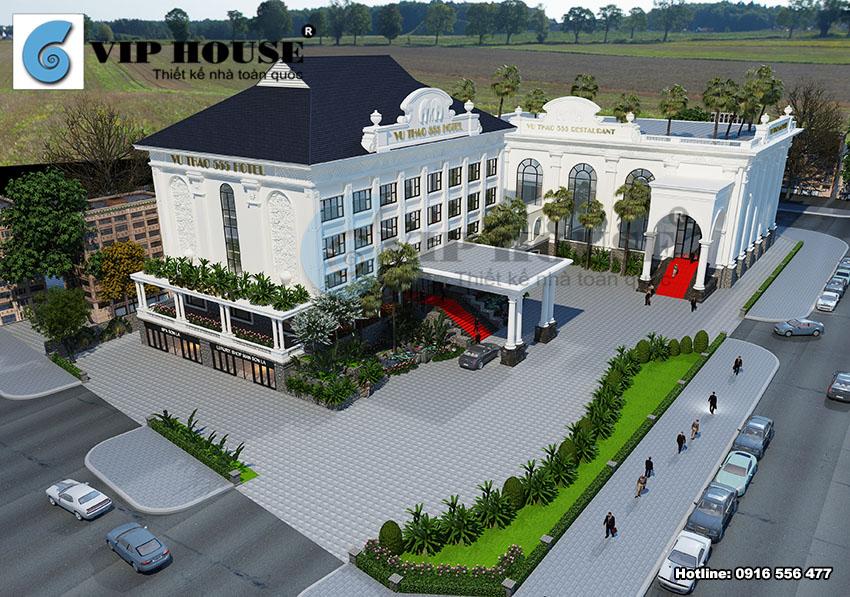 Thiết kế kiến trúc khách sạn tân cổ điển 4 sao tại Sơn La