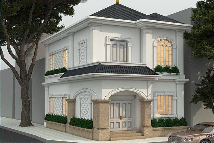 Mẫu thiết kế biệt thự mini 2 tầng hiện đại đơn giản ở nông thôn
