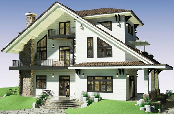 Mẫu thiết kế biệt thự mini kiến trúc độc đáo tại nông thôn