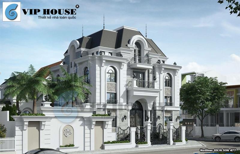 Biệt thự Pháp đẹp với nhiều cách tiết kiệm chi phí xây dựng hoàn hảo