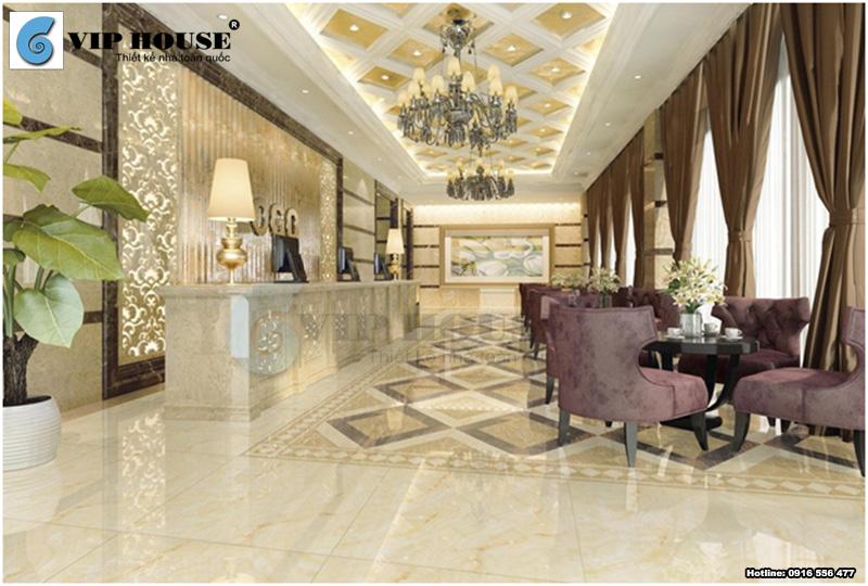Mẫu thiết kế sảnh khách sạn 3 sao đẹp nổi bật