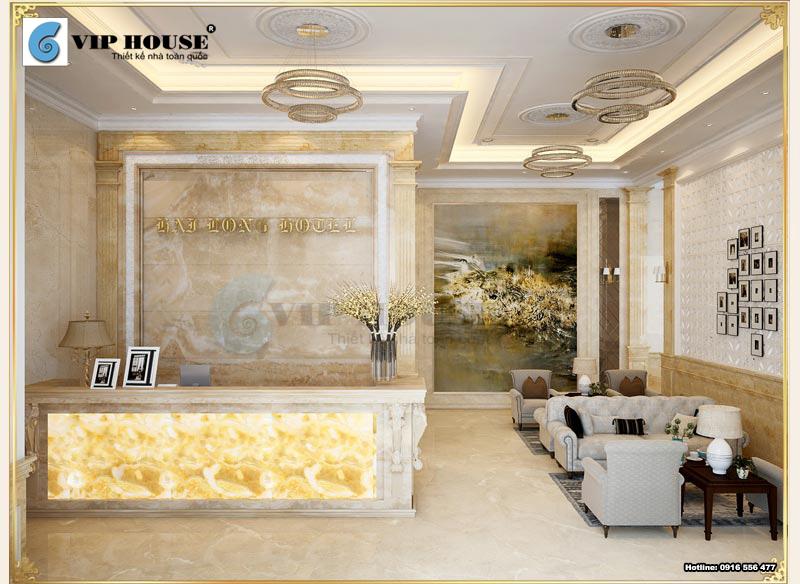 Mẫu sảnh khách sạn tiêu chuẩn 2 sao đẹp