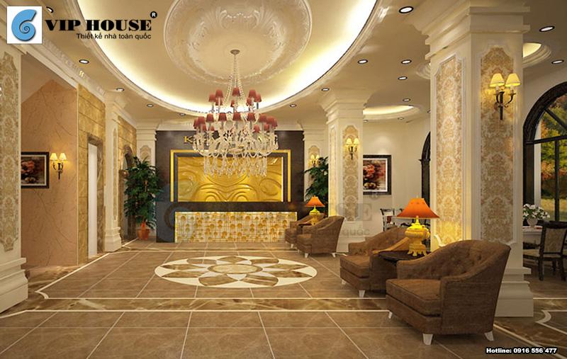 Mẫu thiết kế sảnh khách sạn 3 sao đẹp ấn tượng
