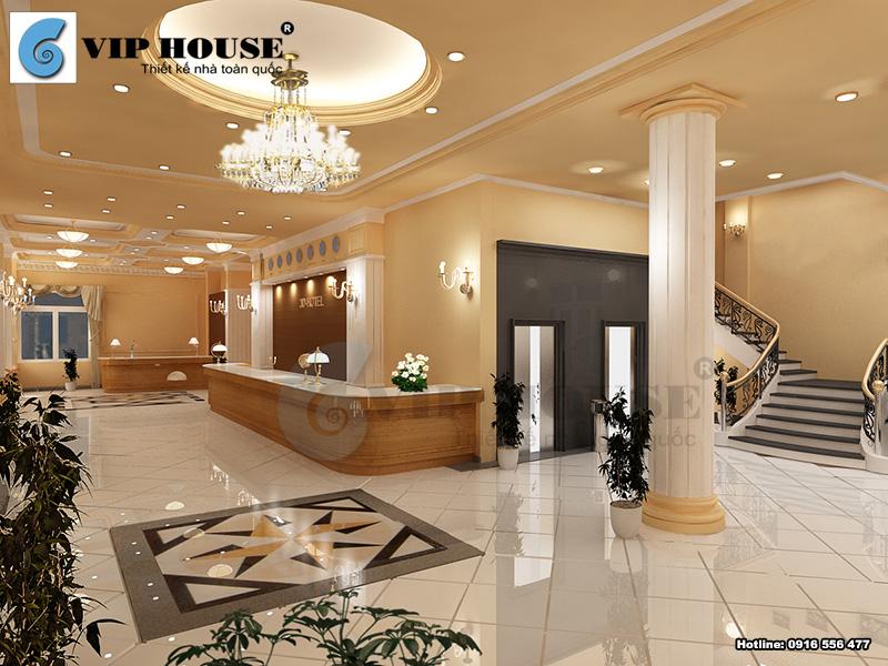 Thiết kế nội thất khu vực sảnh khách sạn 3 sao