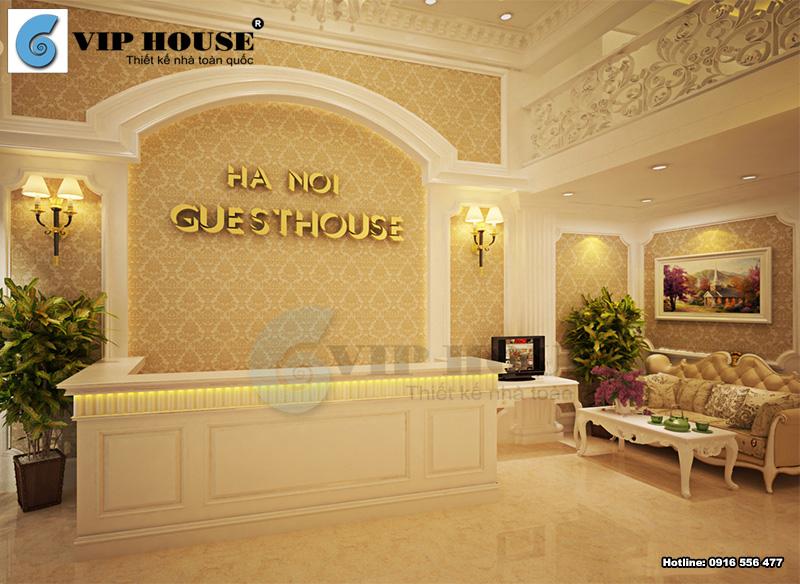 Mẫu thiết kế sảnh khách sạn 2 sao đơn giản