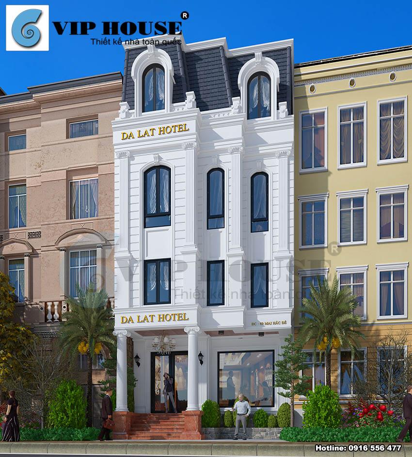 Mẫu thiết kế khách sạn 2 sao đẹp kiểu tân cổ điển