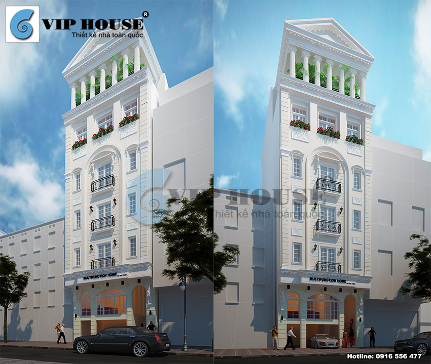 Mẫu thiết kế khách sạn 2 sao phong cách tân cổ điển mới lạ