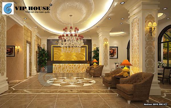 Mãu gạch thảm 3d sang trọng lát sảnh khách sạn