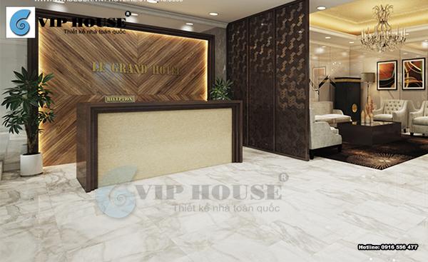 Gạch Ceramic lát sảnh khách sạn đẹp