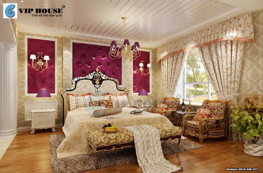 Mẫu thiết kế phòng ngủ khách sạn 5 sao sang trọng và quý tộc