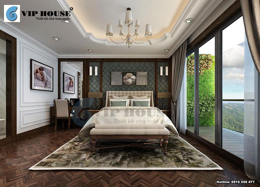 Mẫu thiết kế nội thất phòng ngủ 3 sao tiện nghi sang trọng