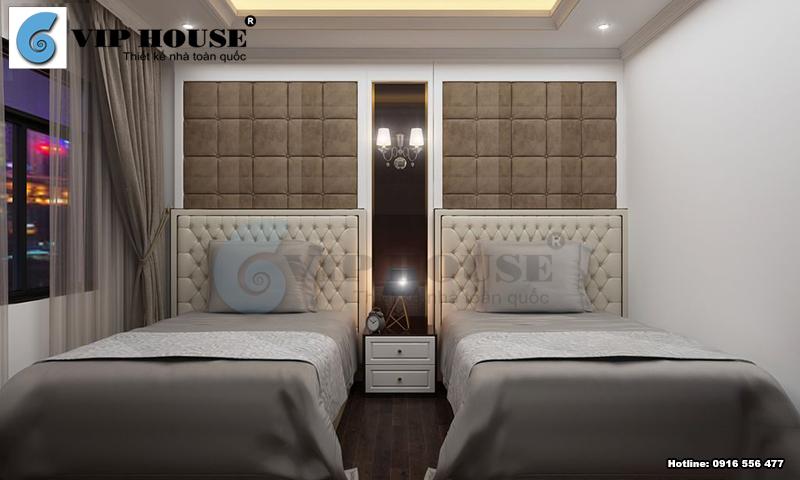 Mẫu phòng ngủ đôi khách sạn mini đẹp tối giản