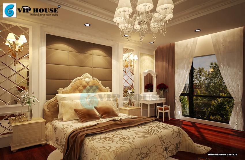 Mẫu thiết kế phòng ngủ khách sạn 5 sao cổ điển vô cùng ấn tượng