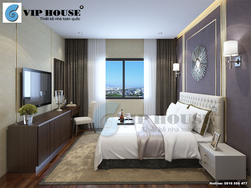 Mẫu thiết kế phòng ngủ khách sạn 3 sao cao cấp
