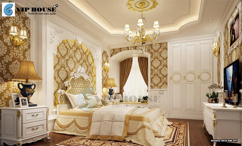 Mẫu thiết kế phòng ngủ khách sạn 5 sao phong cách cổ điển tinh tế