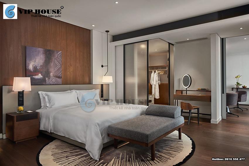 Mẫu thiết kế nội thất phòng ngủ khách sạn tiêu chuẩn 4 sao cao cấp
