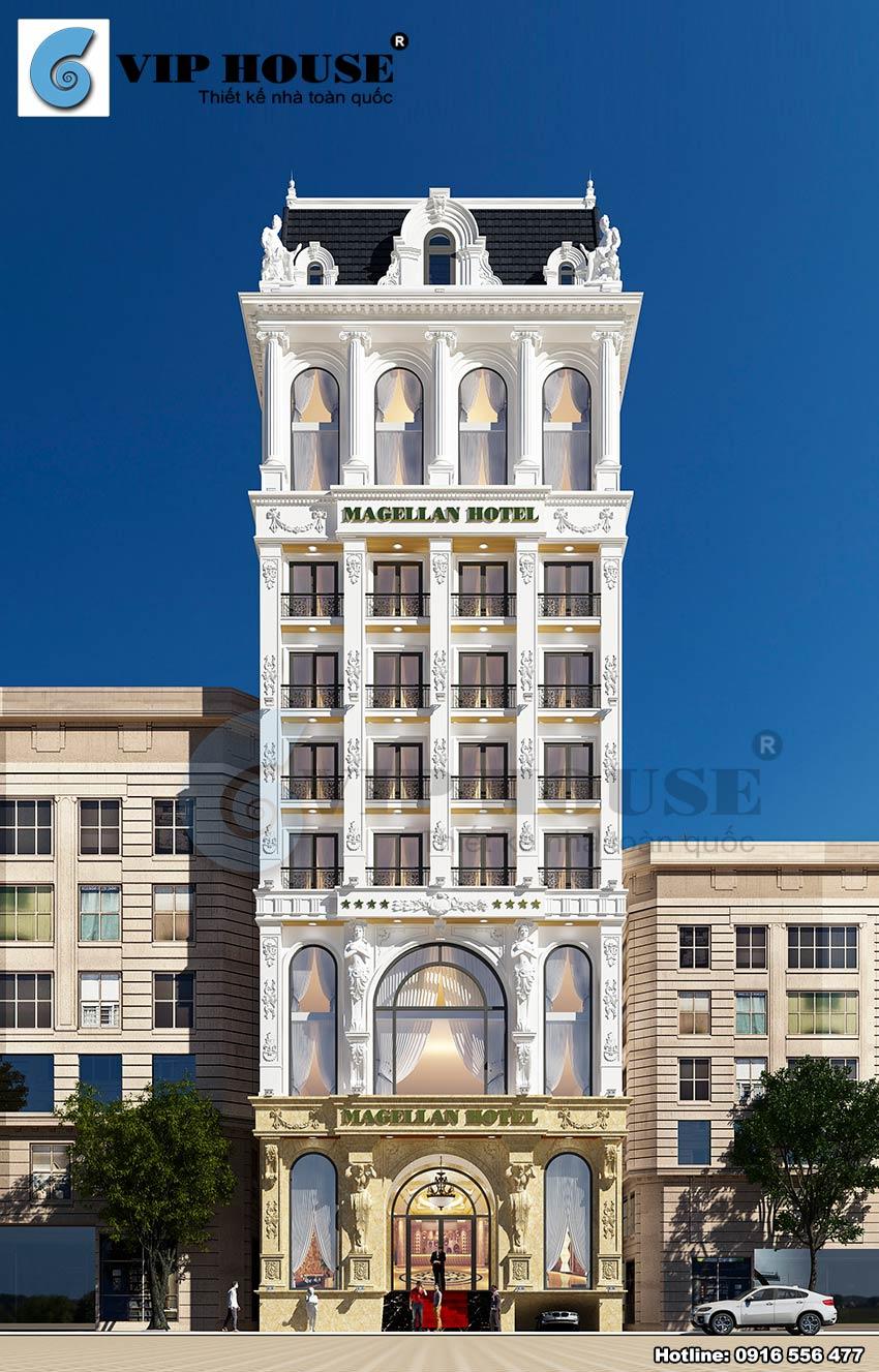 Mẫu thiết kế khách sạn tân cổ điển đẹp tại Phú Yên