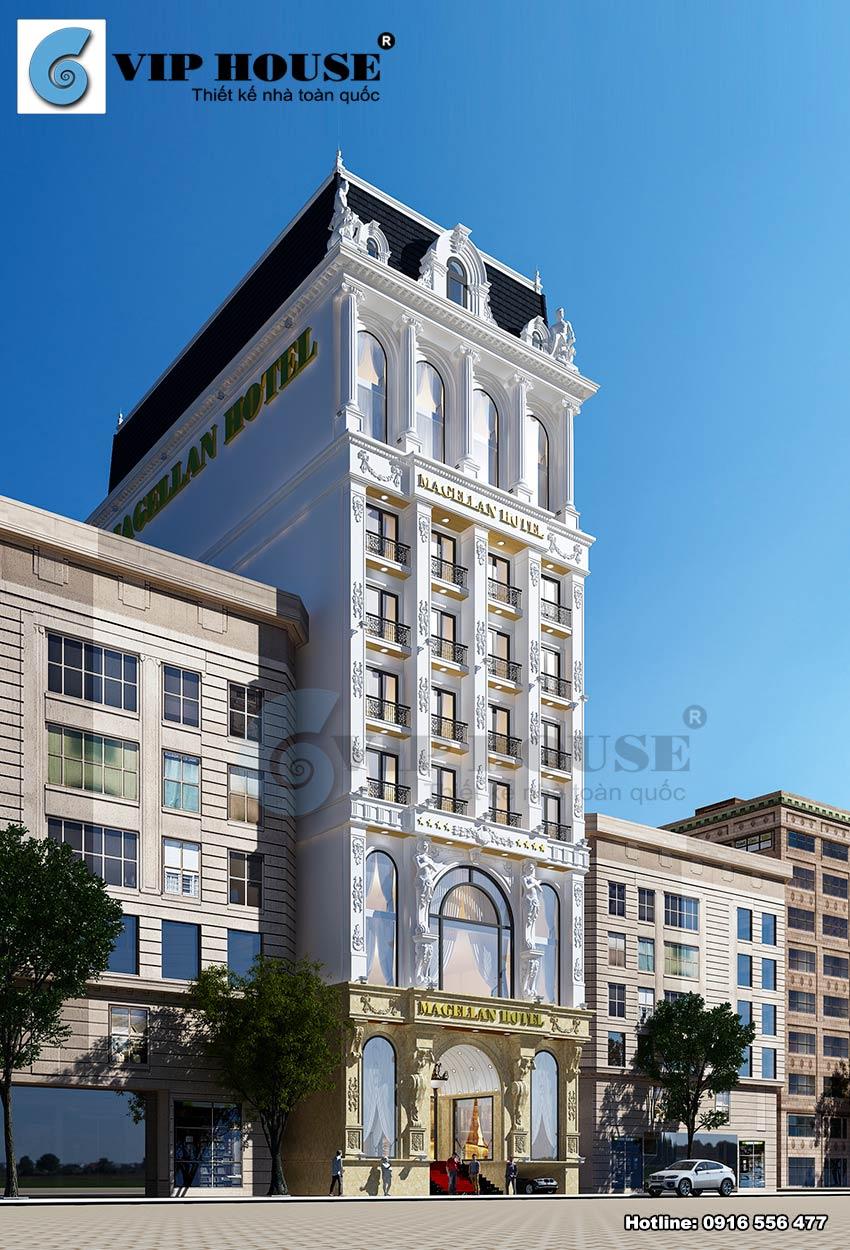 Mẫu khách sạn 12 tầng đạt tiêu chuẩn 4 sao